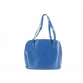Louis Vuitton Lussac Epi Zip Tote 233517 Blue Leather Shoulder Bag