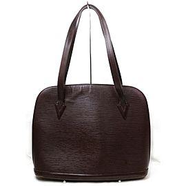 Louis Vuitton Lussac Moka Zip 872074 Brown Epi Leather Tote