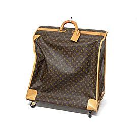 Louis Vuitton Rare Monogram Pullman Vertical Trolley Garment Suitcase Bag 240162