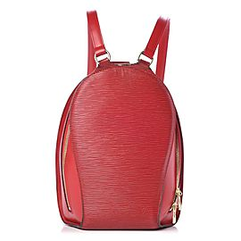 Louis Vuitton Red Epi Mabillon Backpack 860963