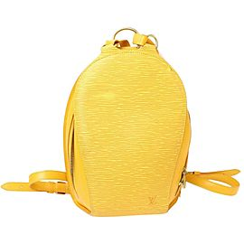 Louis Vuitton Yellow Epi Leather Castillian Mabillon Backpack 859659