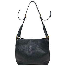 Louis Vuitton Mandara Hobo Noir 870732 Black Epi Leather Shoulder Bag