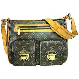 Louis Vuitton Manhattan Hudson Monogram Gm Pocket 2lva716 Brown Coated Canvas Messenger Bag