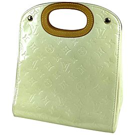 Louis Vuitton Maple Drive Monogram Vernis Perle 20lv610 Ivory Patent Leather Satchel
