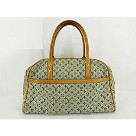 Louis Vuitton Marie Mini Lin Boston Blue Grey 233976