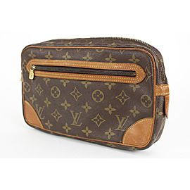 Louis Vuitton Monogram Pochette Marly Dragonne Clutch 26lvs1231