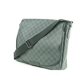 Louis Vuitton Messenger 10lk0107 Damier Graphite Daniel Mm Black Coated Canvas Laptop Bag