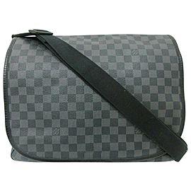 Louis Vuitton Messenger District 871982 Damier Graphite Gm Daniel Black Coated Canvas Laptop Bag