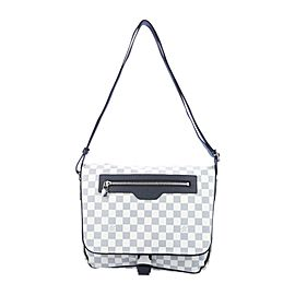 Louis Vuitton Neutral Damier Azur Cobalt Coastline Matchpoint Messenger 860661