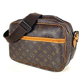 Louis Vuitton Messenger Reporter Monogram Pm 19la528 Brown Coated Canvas Cross Body Bag