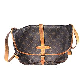 Louis Vuitton Messenger Saumur Monogram 30 3lv615 Brown Coated Canvas Cross Body Bag