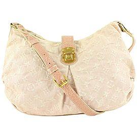 Louis Vuitton Pink Denim Monogram Slightly Messenger bag 668lvs618