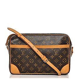 Louis Vuitton Monogoram Trocadero 27 7lva82 Brown Coated Canvas Cross Body Bag