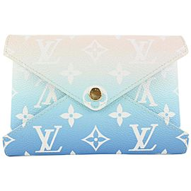 Louis Vuitton Blue Monogram By the Pool Kirigami MM Envelope Pouch Bag 799lvs46