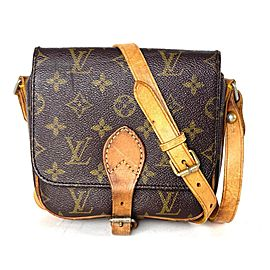 Louis Vuitton Monogram Cartouchiere Pm 2la528 Brown Coated Canvas Cross Body Bag