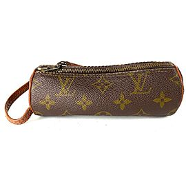 Louis Vuitton Monogram Etui 3 Balles Golf Ball Case 12lv613 Brown Coated Canvas Clutch