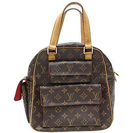 Louis Vuitton Monogram Excentri-cite 871632 Brown Coated Canvas Satchel