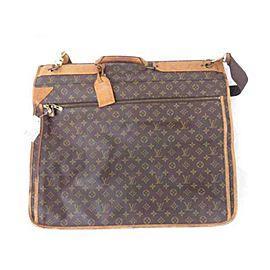 Louis Vuitton Monogram Garment Carrier 2 Hangers and Strap 233160 Brown Weekend/Travel Bag