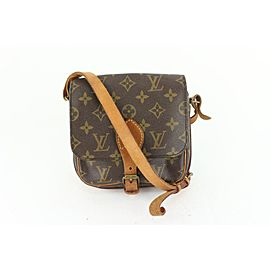 Louis Vuitton Monogram Mini Cartouchiere Crossbody Bag 604lvs615