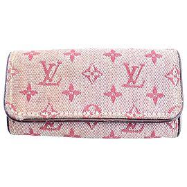 Louis Vuitton Monogram Mini Lin Multicles 4 Key Holder 20lr0320 Pink Canvas Clutch