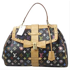 Louis Vuitton Black Monogram Murakami Multicolor Eye Love You Sac Retro GM 861884
