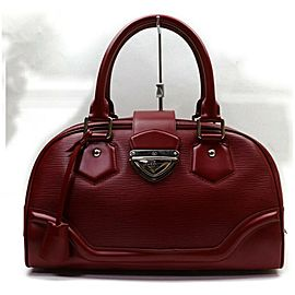 Louis Vuitton Montaigne GM Bowling Boston Bowler Dark Red Epi 872721