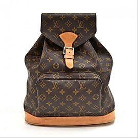 Louis Vuitton Montsouris Gm Monogram Large 12lva624 Brown Coated Canvas Backpack
