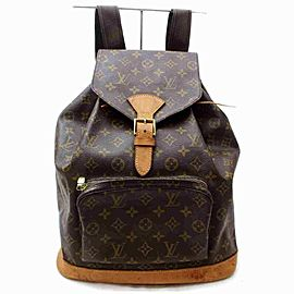 Louis Vuitton Monogram Montsouris GM Backpack Bookbag 860326