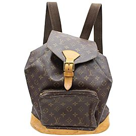 Louis Vuitton Montsouris Monogram Gm Large 867174 Brown Coated Canvas Backpack