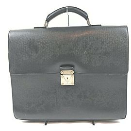 Louis Vuitton Black Taiga Leather Moskova Attache Briefcase 861253