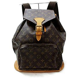 Louis Vuitton Monogram Montsouris GM Backpack Large Bookbag 860534