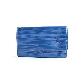 Louis Vuitton Multicles 6 Key Holder 12lr0618 Blue Epi Leather Clutch