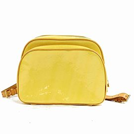 Louis Vuitton Yellow Monogram Vernis Murray Mini Backpack 871083