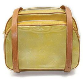 Louis Vuitton Monogram Vernis Murray Mini Backpack Yellow-Green