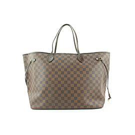 Louis Vuitton Large Damier Ebene Neverfull GM Tote bag 719lvs323
