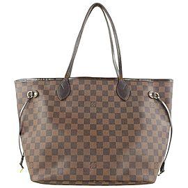 Louis Vuitton Damier Ebene Neverfull MM Tote Bag 45lvs423