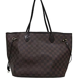 Louis Vuitton Damier Ebene Neverfull MM Tote Bag 858096