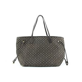 Louis Vuitton Ebene Monogram Mini Lin Idylle Neverfull MM Tote bag 720lvs323