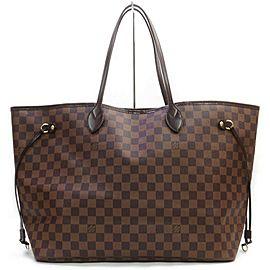 Louis Vuitton Louis Vuitton Tote Bag Neverfull GM Damier Browns Damier 862950