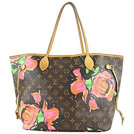Louis Vuitton Stephen Sprouse Graffiti Roses Neverfull MM Tote Bag 61lvs423