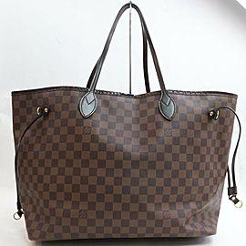 Louis Vuitton Large Damier Ebene Neverfull GM Tote bag