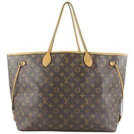 Louis Vuitton Large Monogram Neverfull GM Tote Bag 565lvs614