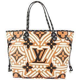 Louis Vuitton Limited Brown-Orange Monogram Crafty Neverfull MM Tote Bag 827lv4