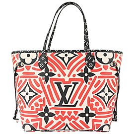 Louis Vuitton Limited Red Monogram Crafty Neverfull MM Tote bag 827lv8