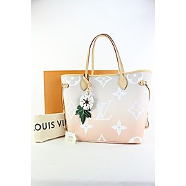 Louis Vuitton Peach Mist Monogram By the Pool Neverfull MM Tote Bag 28lvs422