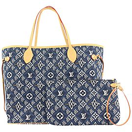 Louis Vuitton Blue Monogram Since 1854 Neverfull MM Tote bag 322lvs223
