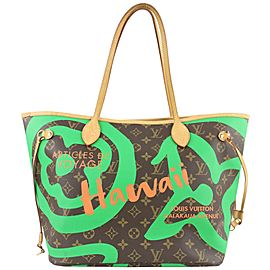 Louis Vuitton Green Monogram Summer Spirit Tahitienne Neverfull MM Tote Bag 862747