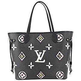 Louis Vuitton Black Wild at Heart Monogram Neverfull MM Tote bag 818lv50