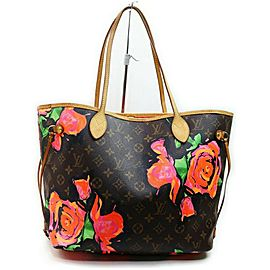 Louis Vuitton Stephen Sprouse Roses Neverfull MM with Graffiti Flowers 861305