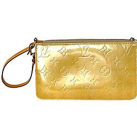 Louis Vuitton Yellow Lexington Pochette Accesoires Monogram Vernis Wristlet 5la859